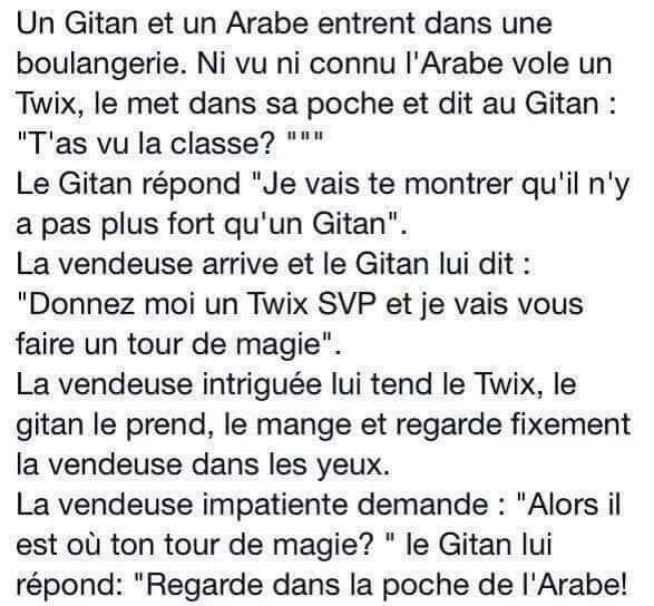 blague gitan arabe